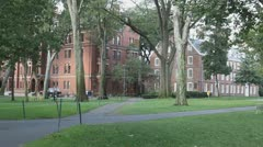 Harvard University Campus Grounds Cambridge, Boston Stock Footage
