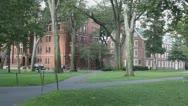 Stock Video Footage of Harvard University Campus Grounds Cambridge, Boston