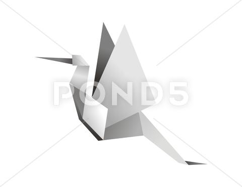 Stock Illustration of origami stork
