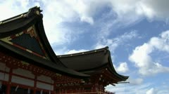 Fushimi Inari Temple timelapse with beautiful clouds Stock Footage