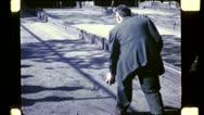 ITALIAN IMMIGRANTS Play Bocci Ball Game NYC 1940s Vintage Film Home Movie 4811 Stock Footage