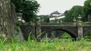 Stock Video Footage of Slide from the Tokyo Imperial Palace