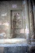 medieval stonework in seljuk mosque - stock photo