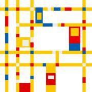 mondrian grid inspiration - stock illustration