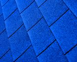 Blue shingle roofing Stock Photos
