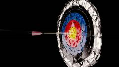 The arrow hits the target - stock footage