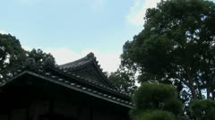 Slide from gto the right from roof of the  the guardhouse Tokyo Imperial Palace Stock Footage