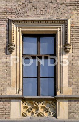 Stock photo of old window medieval