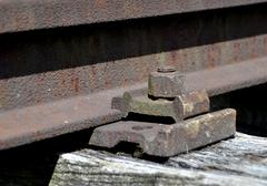 Stock Photo of mounting rails old