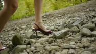 Stock Video Footage of high heels hiking