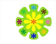 Stock Illustration of rainbow flower illustration
