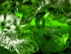 green bacground cracks - stock photo