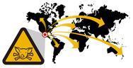 Risk of global epidemic of swine flu Stock Illustration