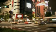 Stock Video Footage of Timelapse from crowded intersection outside Shibuya Station