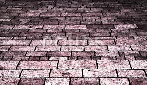 Stock photo of old pink tile