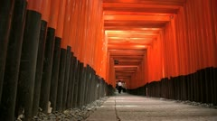 Fushimi Inari Temple Torii slide backward Stock Footage