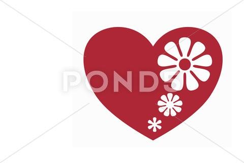 Stock Illustration of flower heart