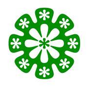 Stock Illustration of green flowers illustration