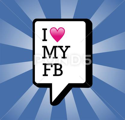 Stock Illustration of i love my facebook background illustration
