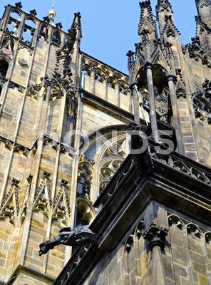 Stock photo of gothic spouts