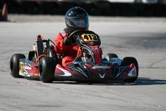 racing go kart - stock photo