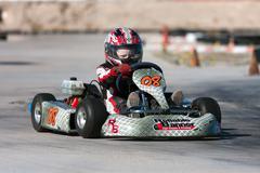 Racing go kart, junior class Stock Photos