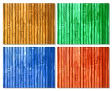 picket colored wood surfaces - stock illustration