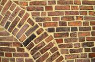 Stock Photo of brick wall with arch