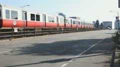 Subway Train Boston Stock Footage