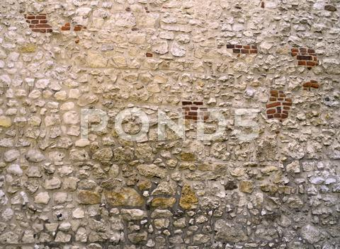 Stock photo of old stone wall