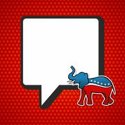 usa elections: republican politic message - stock illustration