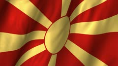 Macedonia Waving Flag Stock Footage