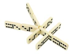 dominoes in shape of yen currency symbol - stock photo