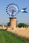 Mallorca windmill - stock photo