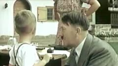 WW2-ColorFootage - Adolf Hitler playing with children Stock Footage