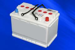 car battery - stock photo