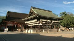 Plaza inside the Yasaka shrine Stock Footage