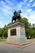 peter 1 monument in saint-petersburg - stock photo