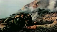 WW2-ColorFootage - Pacific war landing operation Stock Footage
