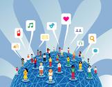 Stock Illustration of global social media network