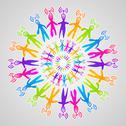 Global social media network mandala Stock Illustration
