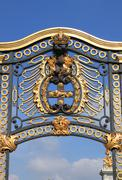 Emblem in Buckingham Palace - stock photo