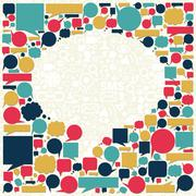 social media talk bubble texture - stock illustration