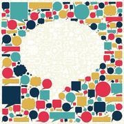 Stock Illustration of social media talk bubble texture