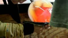 Glass artist teamwork; 2 Stock Footage