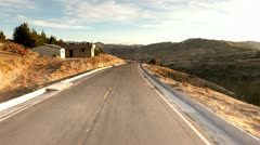 Driving thru the Ecuadorian Andes on the way to Quilotoa crater, time lapse Stock Footage