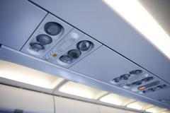 Aeroplane overhead console Stock Photos