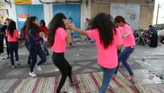 Upbeat modern Druze females dance Dabke Stock Footage