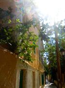 Street at Lefkada Stock Photos