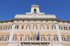 The Italian Parliament Stock Photos